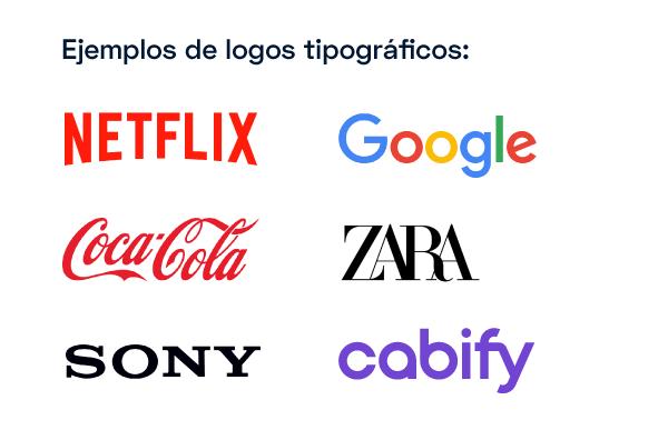 Ejemplos de logos tipográficos
