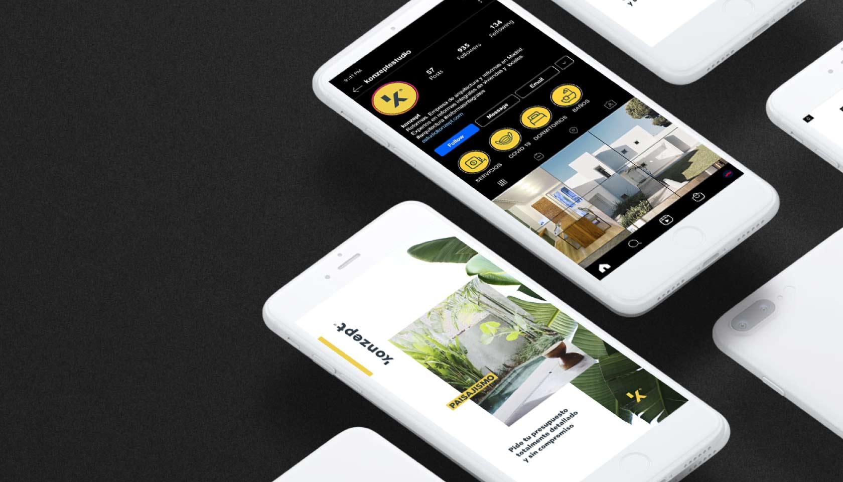 Gestion de redes sociales y social media - Feed con diseño - Agencia Charleaston