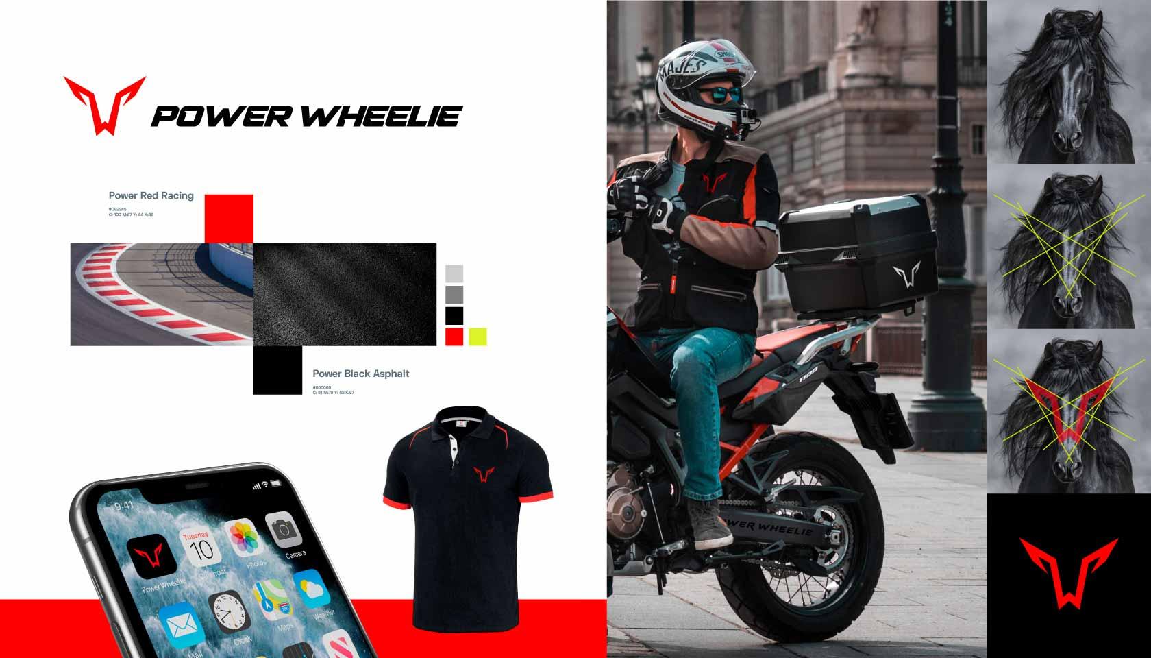 Power Wheelie branding